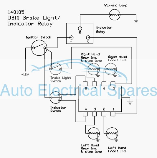 Austin Healey Wiring Diagrams 141400 Flasher Unit Replaces Lucas 33117 Db10 3h1454